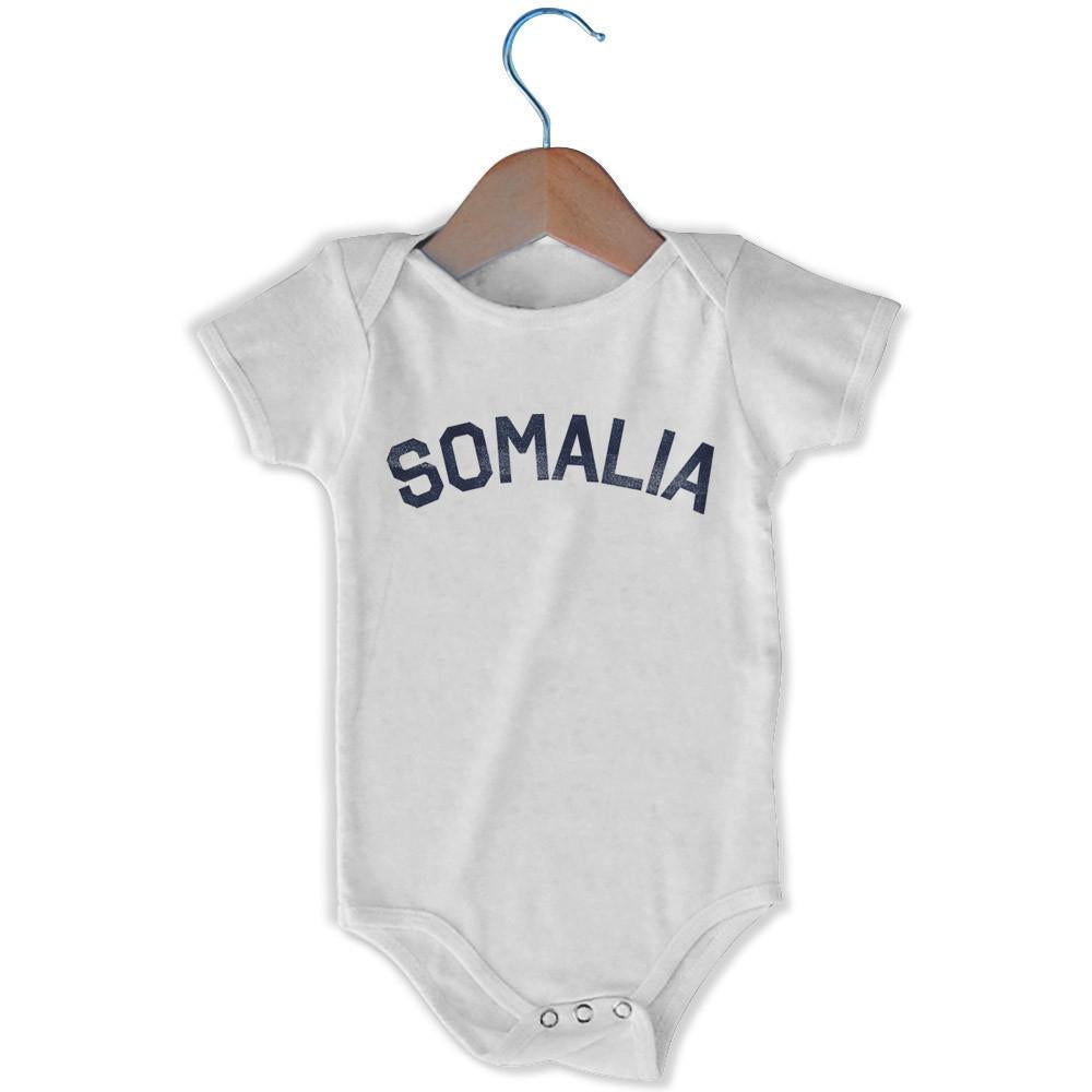 Somalia City Infant Onesie in White by Mile End Sportswear