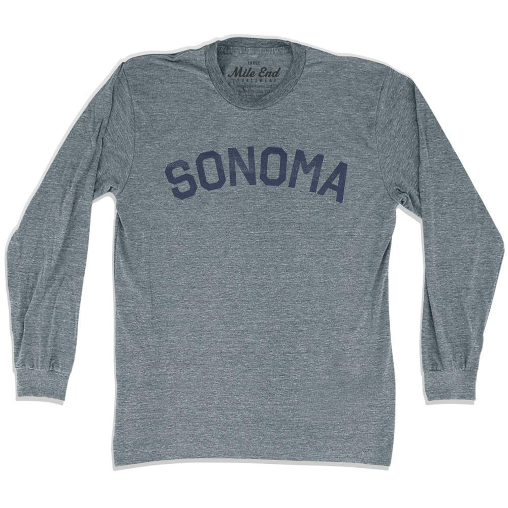 Sonoma City Vintage Long Sleeve T-shirt in Athletic Grey by Mile End Sportswear