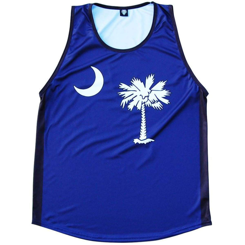 South Carolina Flag Sport Tank - Navy / Youth X-Small - Tank Top