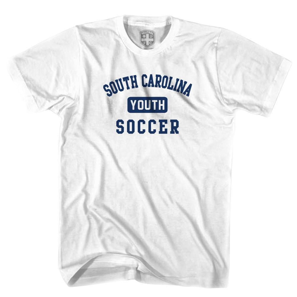 South Carolina Youth Soccer T-shirt in White by Neutral FC