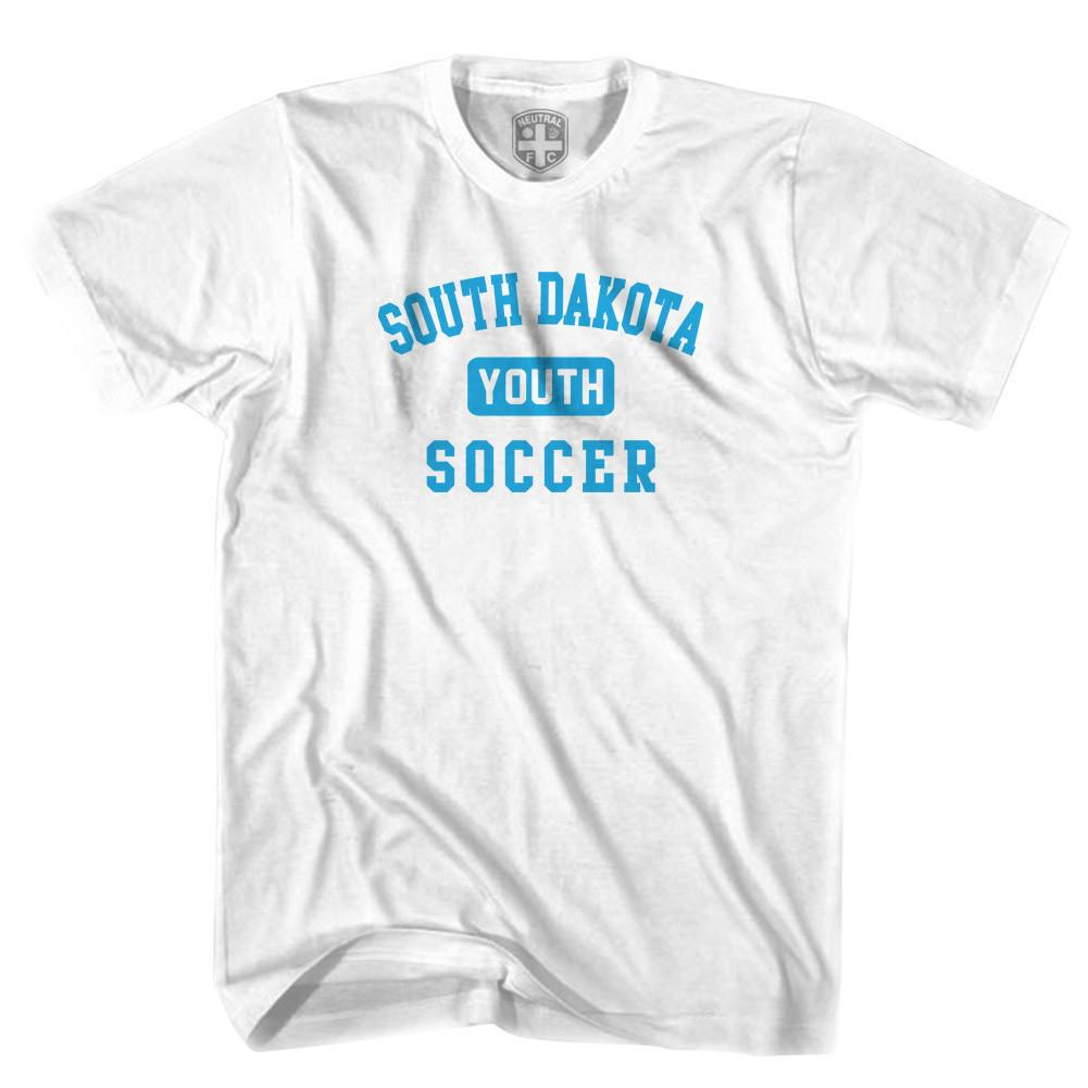 South Dakota Youth Soccer T-shirt in White by Neutral FC