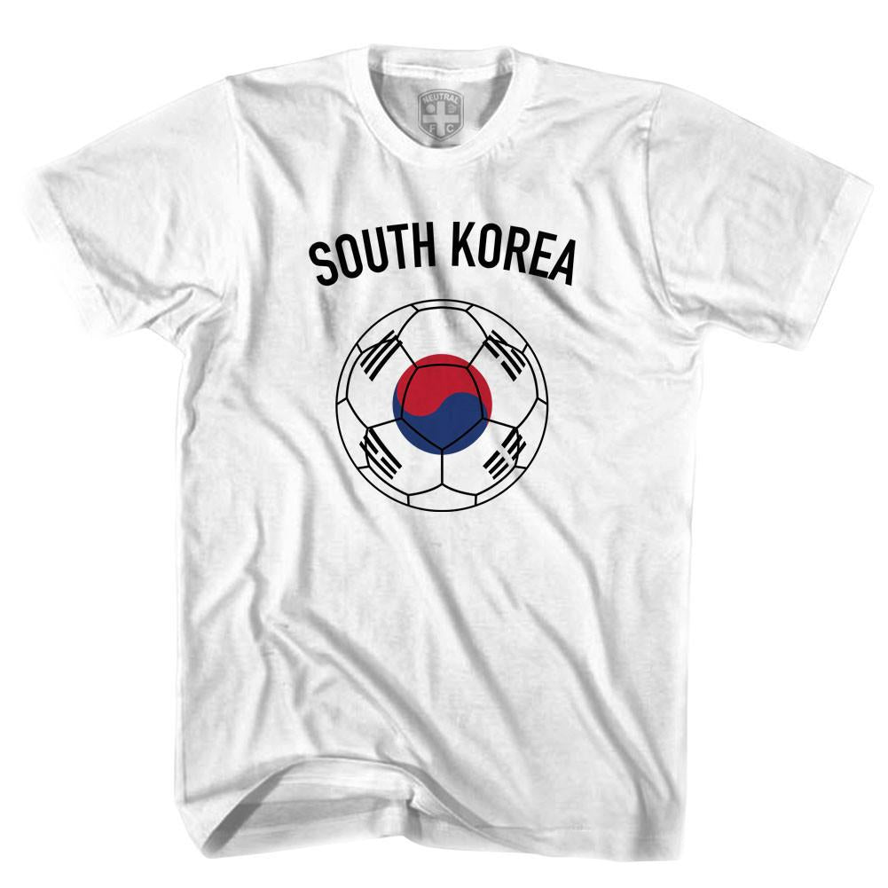 South Korea Soccer Ball T-shirt in White by Neutral FC