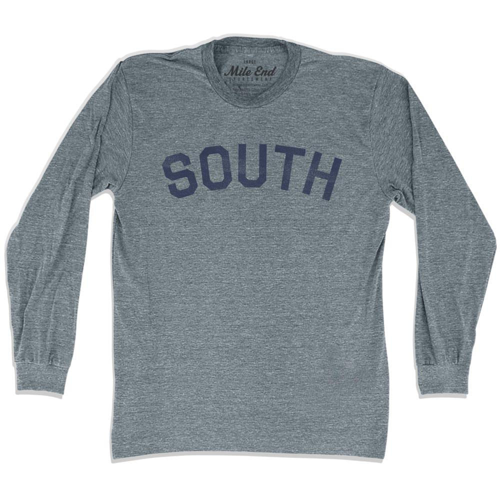South City Vintage Long Sleeve T-shirt in Athletic Grey by Mile End Sportswear