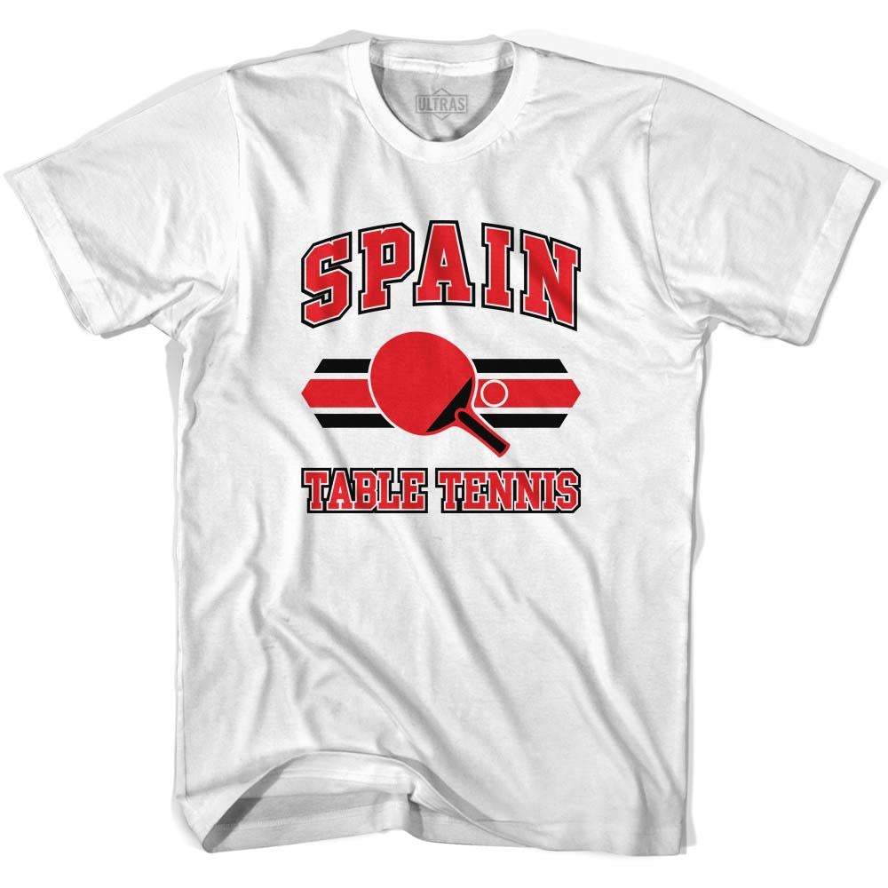 Spain Table Tennis Youth  Cotton T-shirt by Ultras