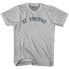 St. Vincent City Vintage T-shirt in Grey Heather by Mile End Sportswear