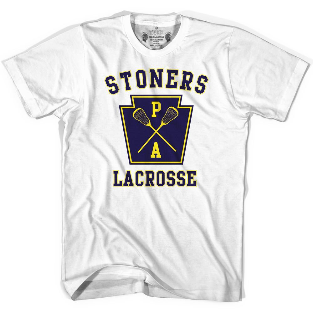 Pennsylvania Stoners PA Lacrosse T-shirt in White by Tribe Lacrosse
