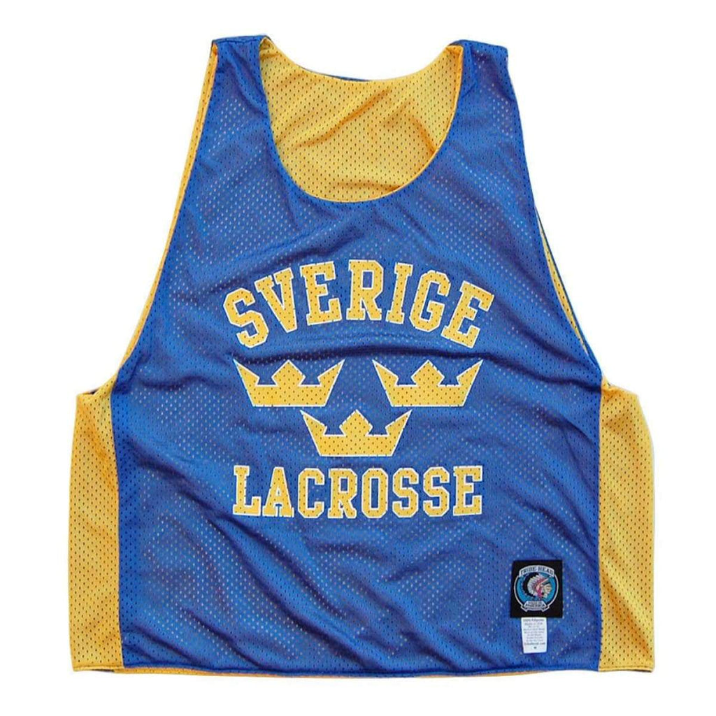 Sweden Lacrosse Reversible Pinnie - Graphic Mesh Lacrosse Pinnies