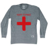 Hopp Schwiiz Cross Soccer Long Sleeve T-shirt in Athletic Grey by Ultras