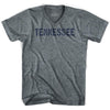 Tennessee State Stencil Adult Tri-Blend V-neck T-shirt by Ultras