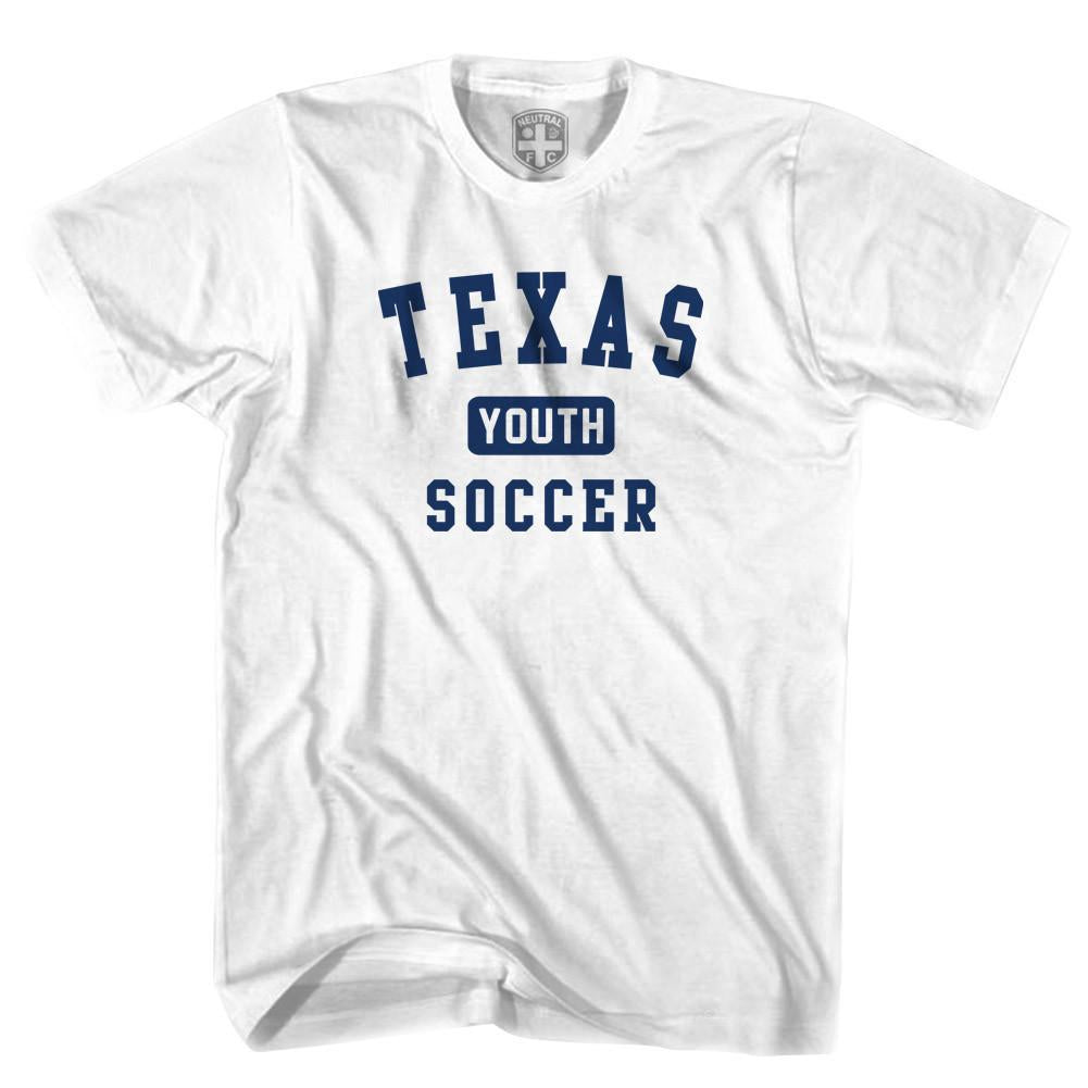 Texas Youth Soccer T-shirt in White by Neutral FC