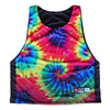 Tie Dye and Black Lacrosse Sublimted Pinnie in Black by Tribe Lacrosse