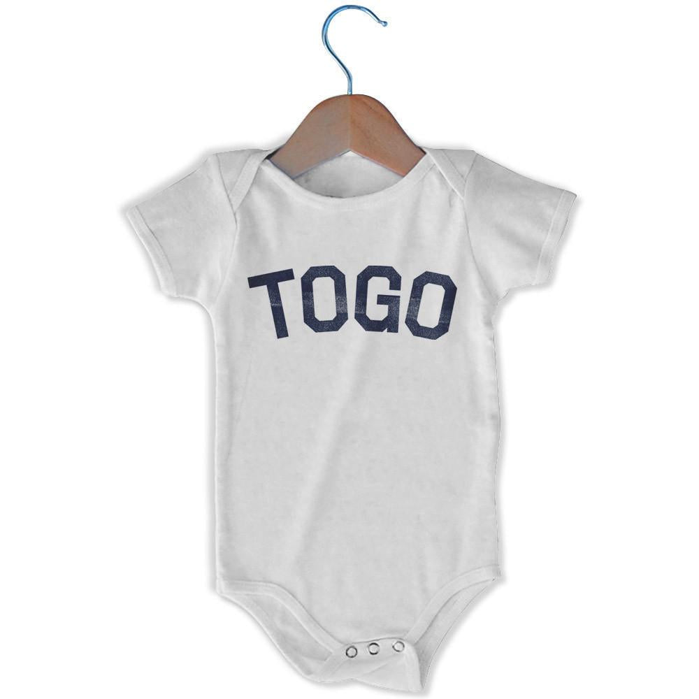 Togo City Infant Onesie in White by Mile End Sportswear