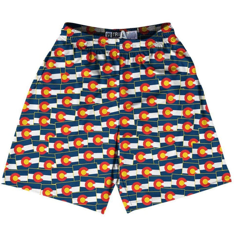 Tribe Massachusetts State Party Flags Lacrosse Shorts
