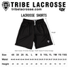 Red and Black Two-Tone Camo Sublimated Lacrosse Shorts
