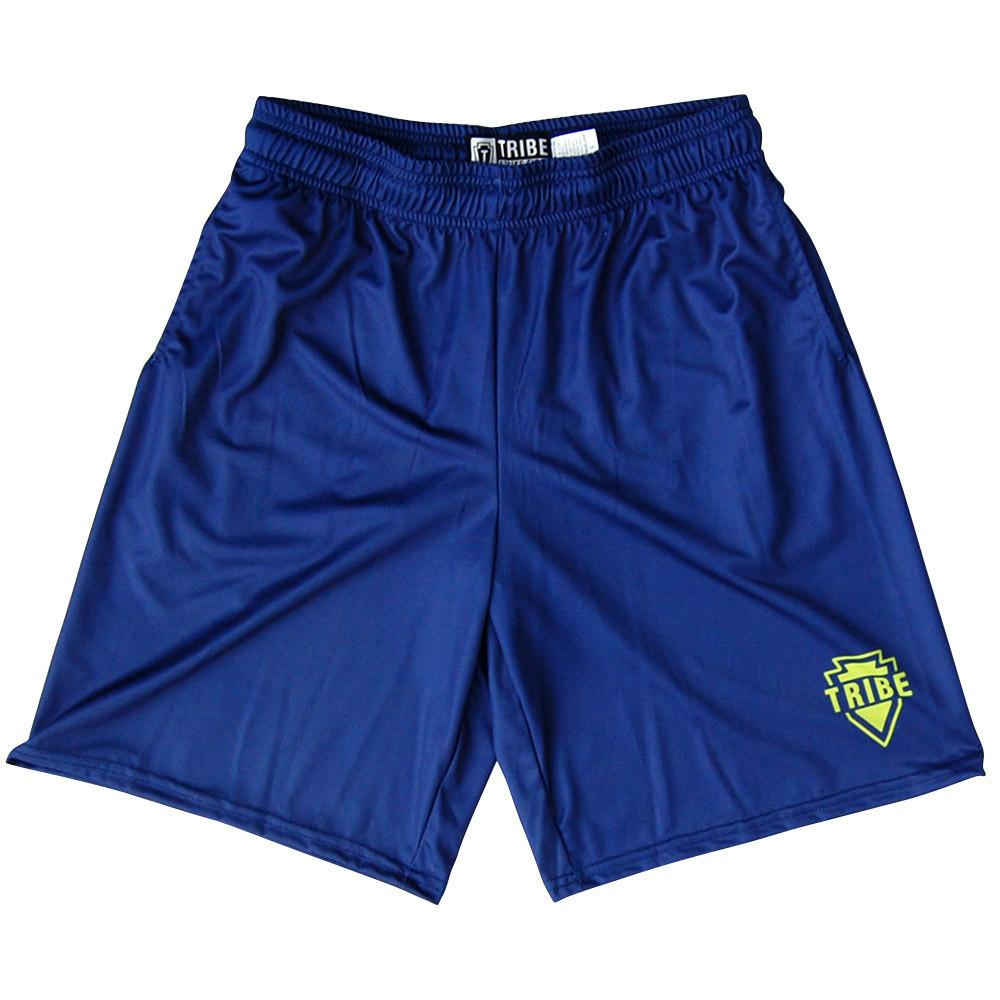 Tribe Lacrosse Seattle Battle Shorts in Navy and Seattle Green by Tribe Lacrosse