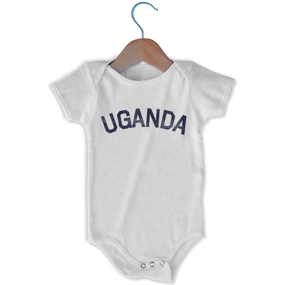 Uganda City Infant Onesie in White by Mile End Sportswear