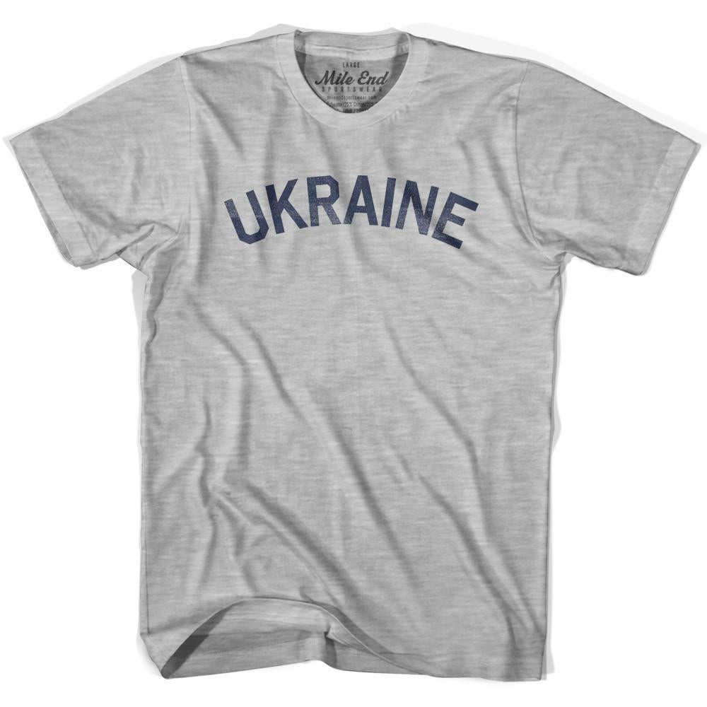 Ukraine City Vintage T-shirt in Grey Heather by Mile End Sportswear
