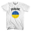 Ukraine Soccer Ball T-shirt in White by Neutral FC