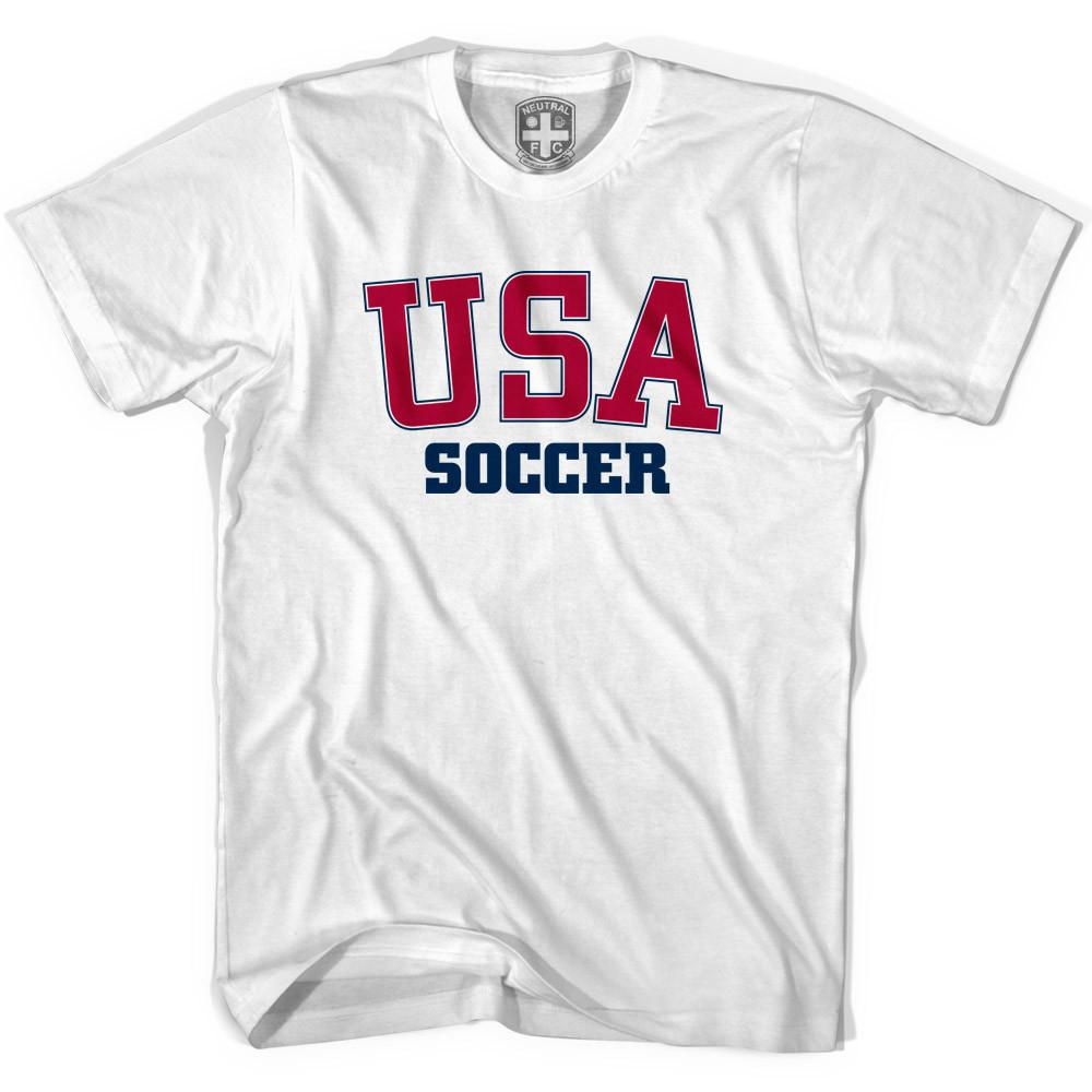 United States Soccer T-shirt in White by Neutral FC
