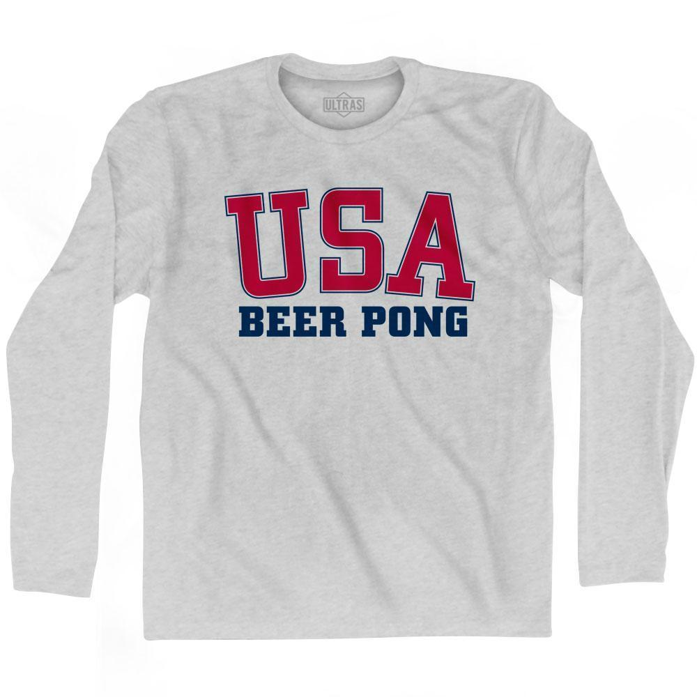 USA Beer Pong Ultras Long Sleeve T-shirt by Ultras