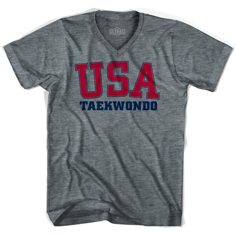 USA Taekwondo Ultras V-neck T-shirt by Ultras