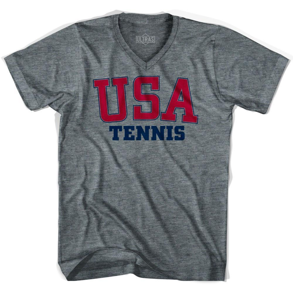 USA Tennis Ultras V-neck T-shirt by Ultras