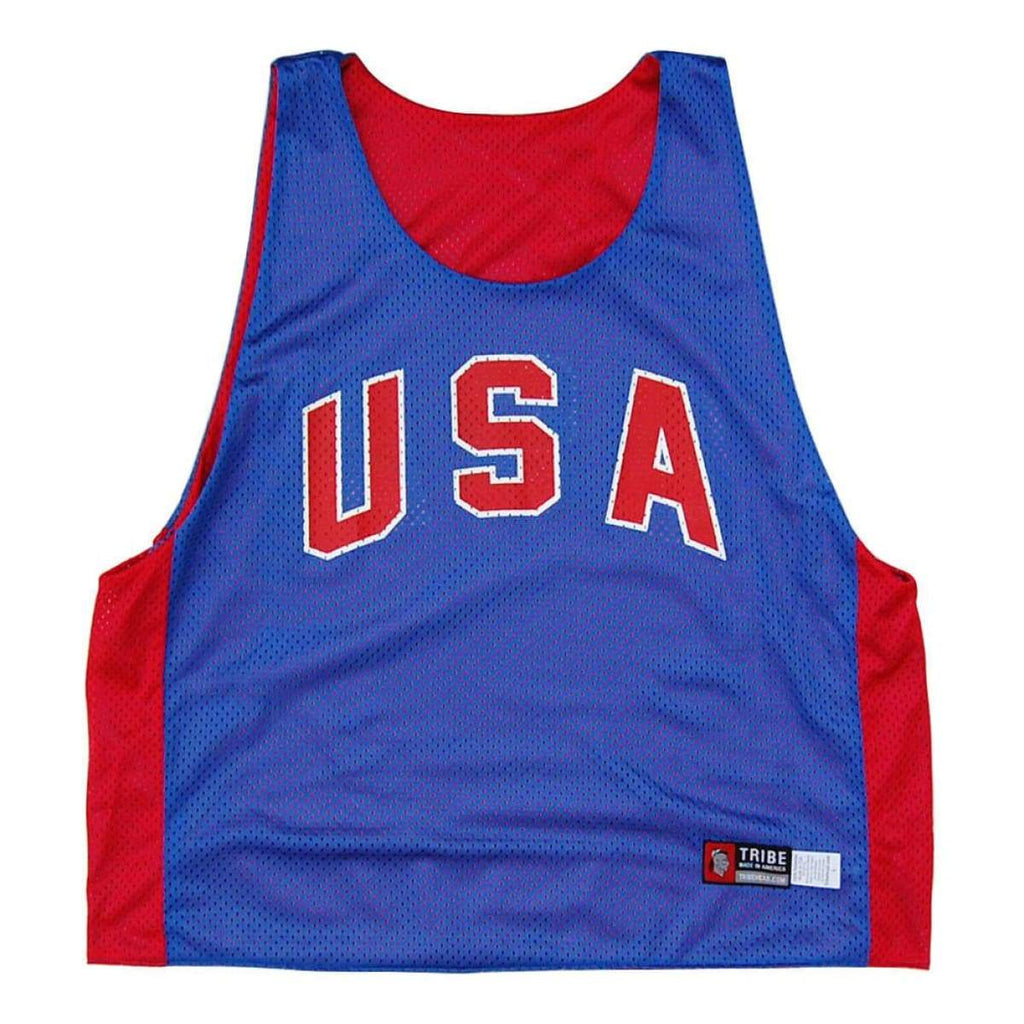 USA Retro-Colorway Lacrosse Pinnie - Graphic Mesh Lacrosse Pinnies