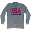USA Synchronized Ultras Long Sleeve T-shirt by Ultras