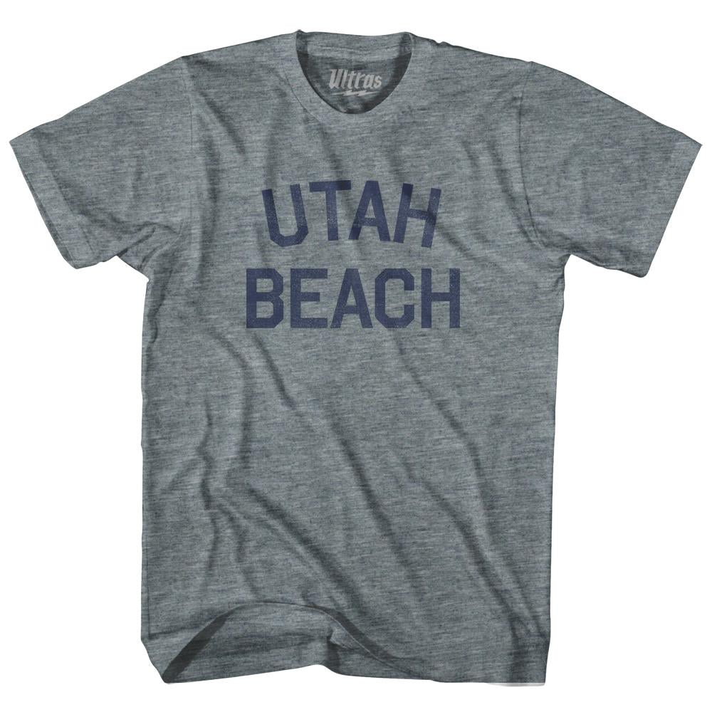 Utah Beach Adult Tri-Blend T-Shirt