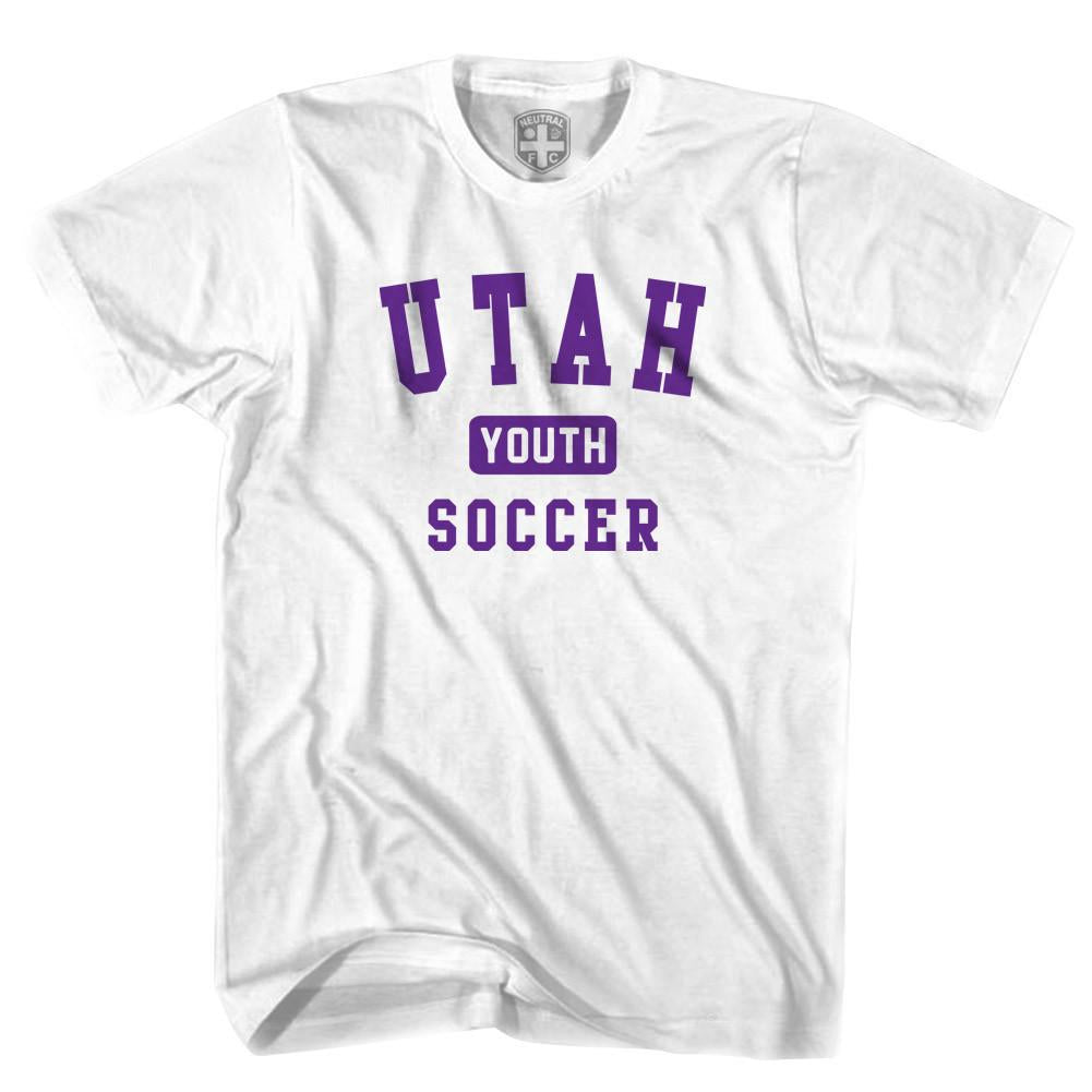 Utah Youth Soccer T-shirt in White by Neutral FC