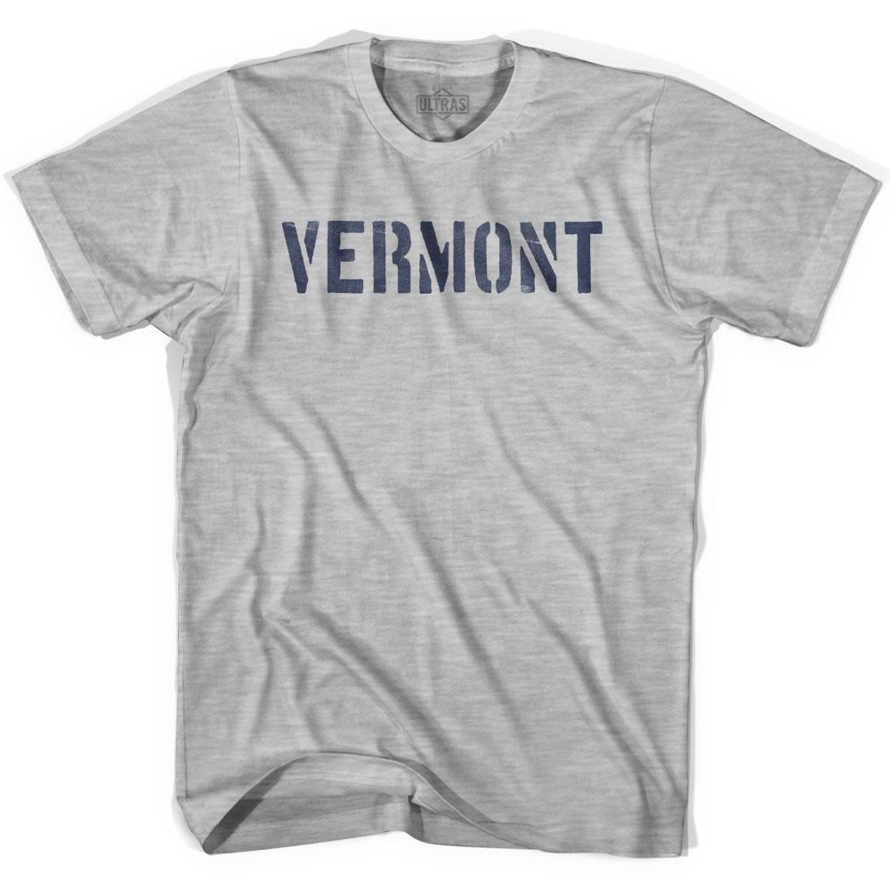 Vermont State Stencil Womens Cotton T-shirt by Ultras