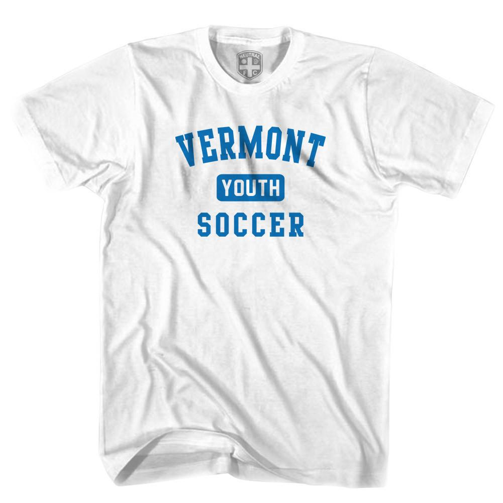Vermont Youth Soccer T-shirt in White by Neutral FC
