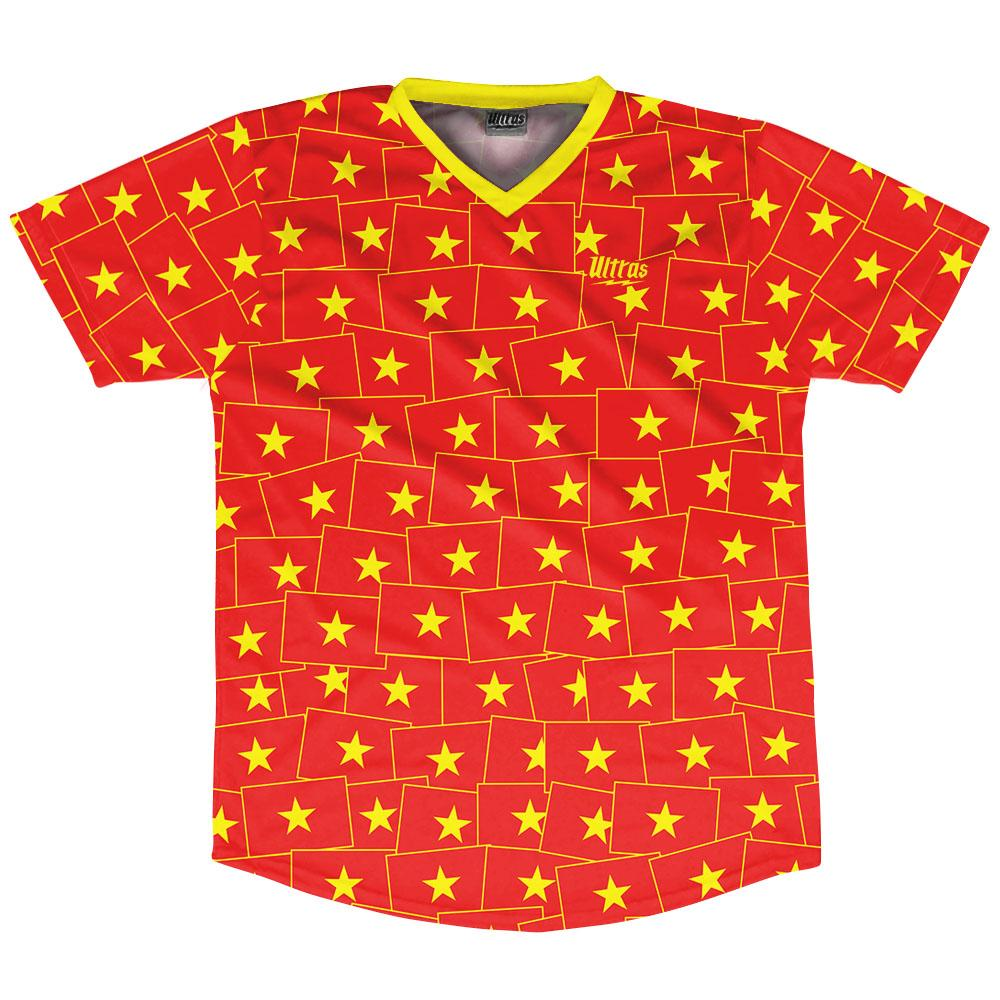Ultras Vietnam Party Flags Soccer Jersey by Ultras