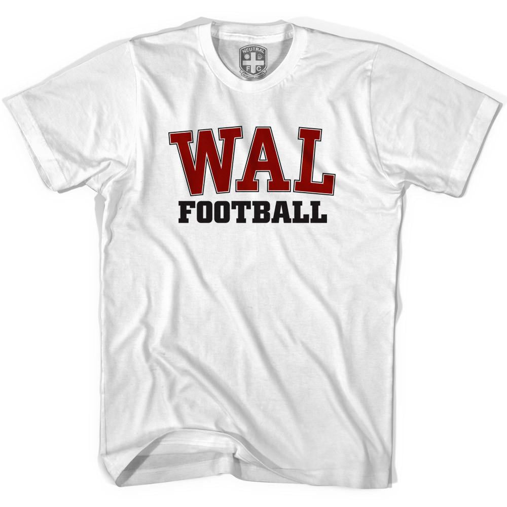 Wales WAL Soccer T-shirt in White by Neutral FC