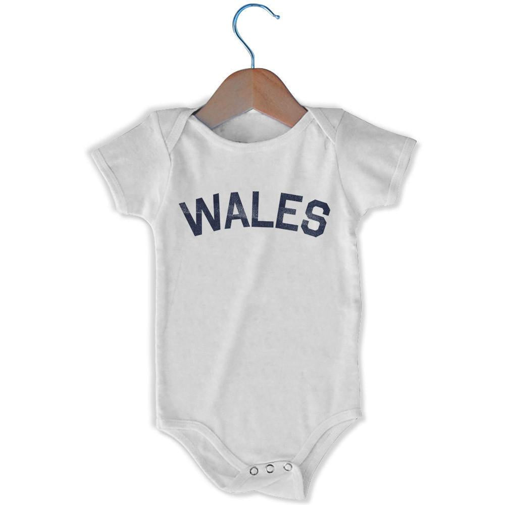 Wales City Infant Onesie in White by Mile End Sportswear