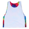 Tie Dye and White Sublimated Reversible Sublimated Lacrosse Pinnie in Tie Dy & White by Tribe Lacrosse