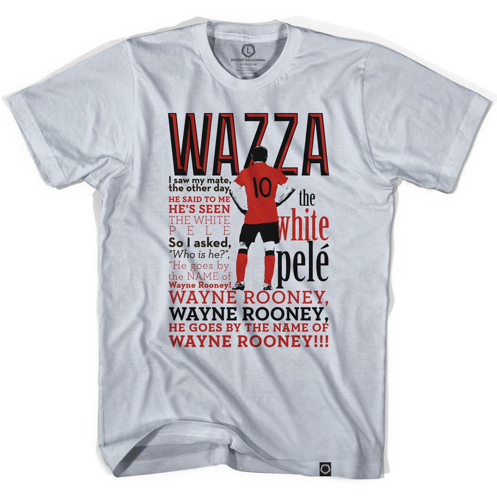 Wayne Rooney White Pele Soccer T-shirt in Cool Grey by Neutral FC