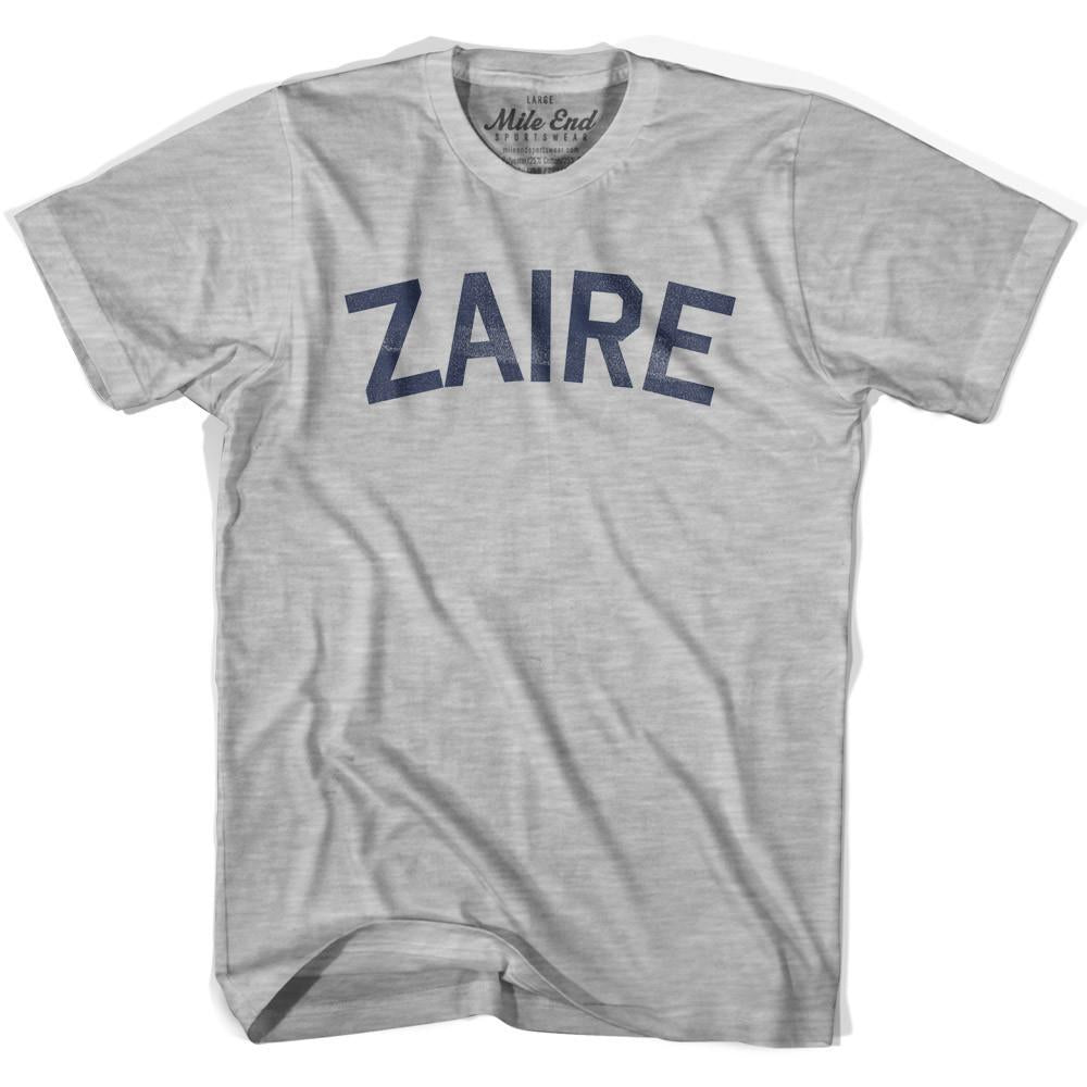 Zaire City Vintage T-shirt in Grey Heather by Mile End Sportswear