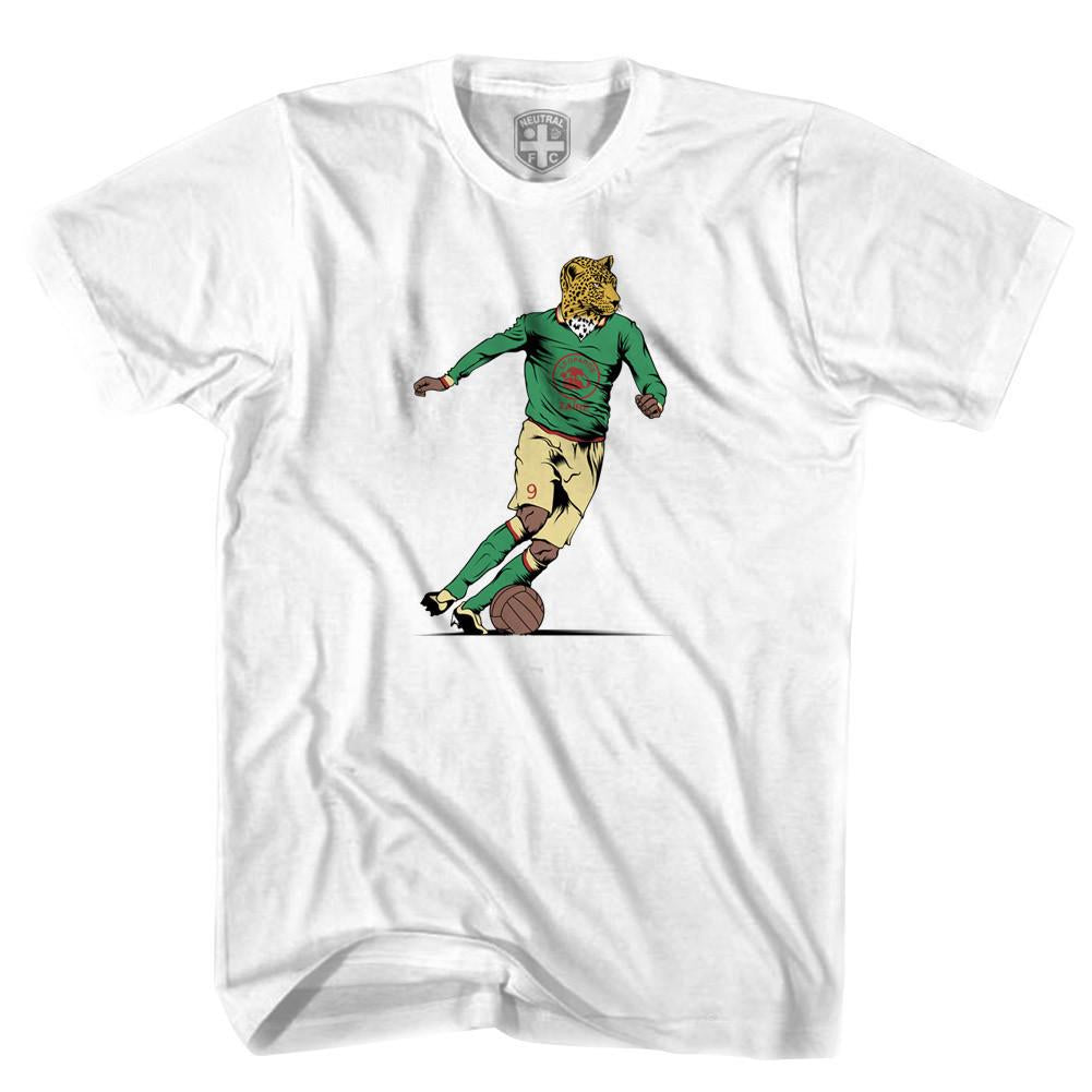 Zaire Leopards 1974 World Cup T-shirt in White by Neutral FC