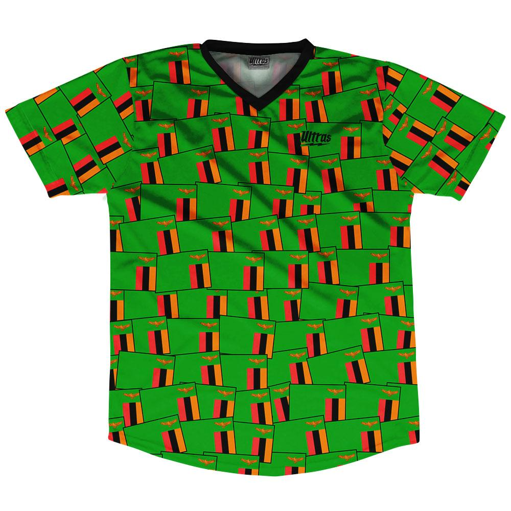 Ultras Zambia Party Flags Soccer Jersey by Ultras