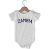 Zambia City Infant Onesie in White by Mile End Sportswear