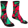Zulu Nation Crew Socks in Black, Red, Green by Mile End Sportswear