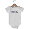 Zurich City Infant Onesie in White by Mile End Sportswear