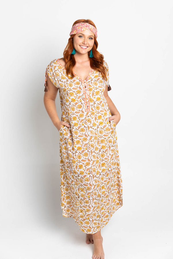 Amala Maxi Dress- Marigold