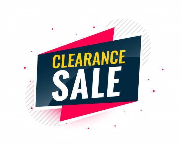 Clearance Sale on now!