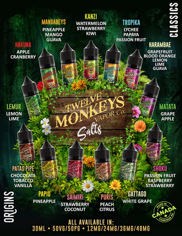 Twelve Monkeys SALTS 30ml