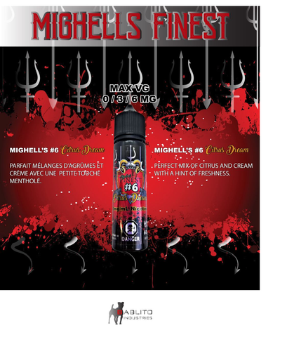 "Mighells Finest -#6 ""Citrus Dream"" 60ml, 3mg"