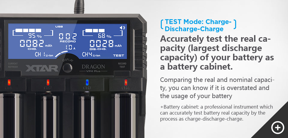 Xtar Dragon VP4 Plus 4 bay Charger