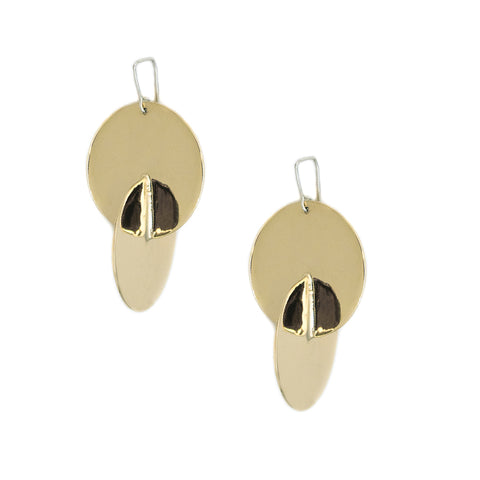 Luna Earrings Brass