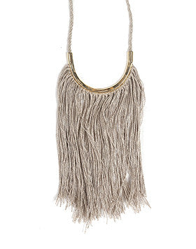 Lunate Fringe Natural Flax & Brass
